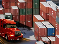 delivery marine containers Port Vancouver docks deliver container transport BC Canada
